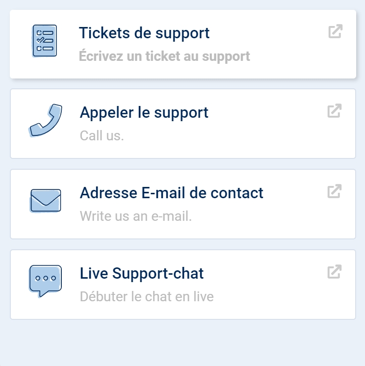 support et contact SISTRIX