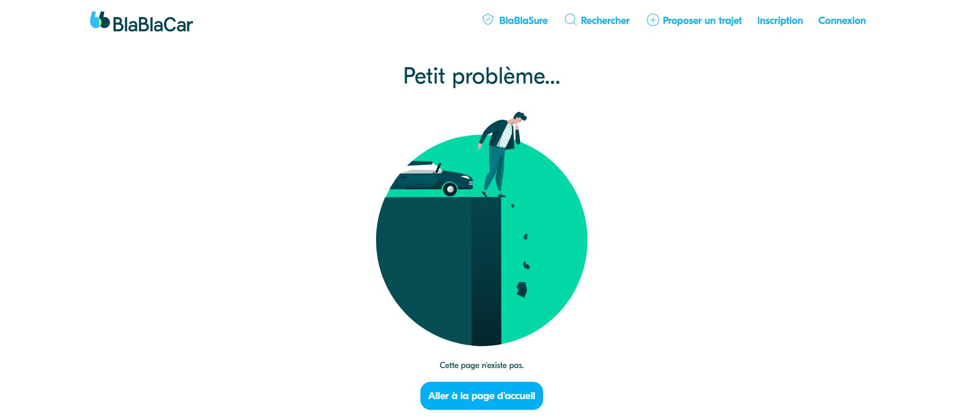 Page erreur blablacar.fr