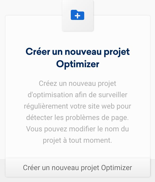 optimizer-create-new-projekt